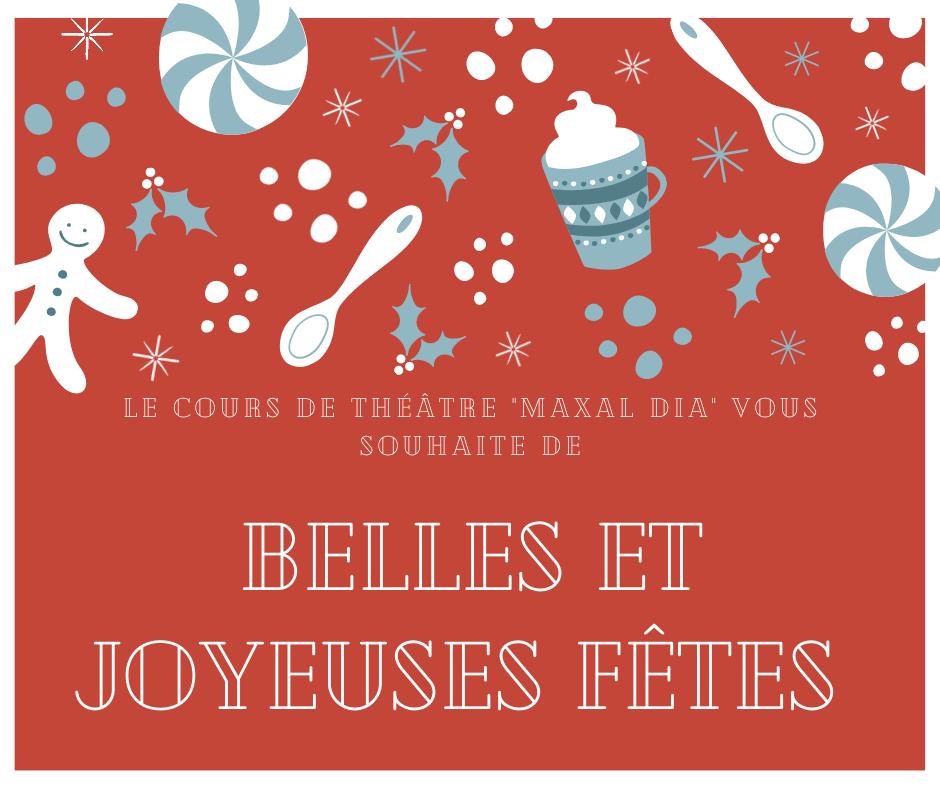 Cours de theatre maxal dia - Joyeux noël !